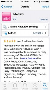 Cydia Tweak: biteSMS Gets Its Long Awaited Update For iOS 7