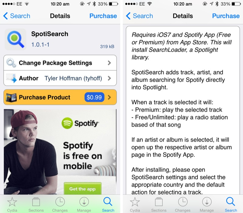 Cydia Tweak: SpotiSearch Brings Spotify Searching To Spotlight