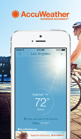AccuWeather For iPhone Goes 7.0 With New iOS 7 Design And New Enhancements
