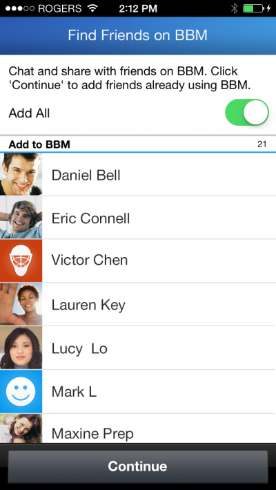 Look, Ma, No PINs! BBM For iOS Now Lets You Easily Find Friends To Chat With
