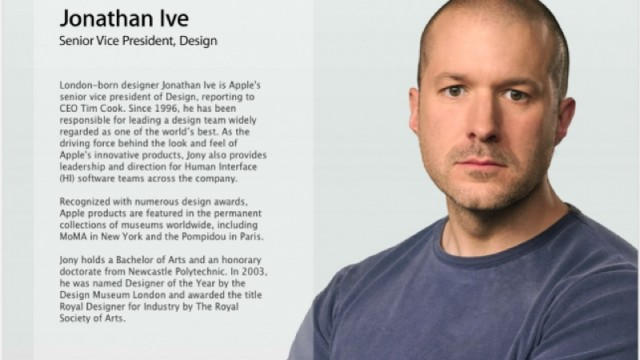 Updated: Jony Ive Has Disappeared From Apple's Online List Of SVPs