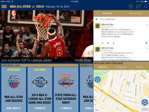 NBA Game Time Apps For iOS Heat Up With Updates For 2014 All-Star Weekend