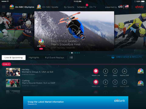 NBC Sports Live Extra 3.0 Is All Set For Its Live Coverage Of The 2014 Winter Olympics