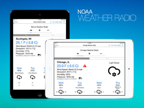 NOAA Weather Radio HD 6.0 Brings iOS 7-Inspired Design And More Improvements