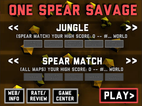 Spears Vs. Savages: Action Arena Spear-Em-Up One Spear Savage Launches On iOS