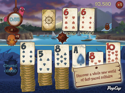 Ahoy! PopCap Unfurls The Sails Of Solitaire Blitz: Lost Treasures For iOS