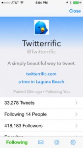 Twitterrific Gains Search Streaming, Navigation Tab Customization And More