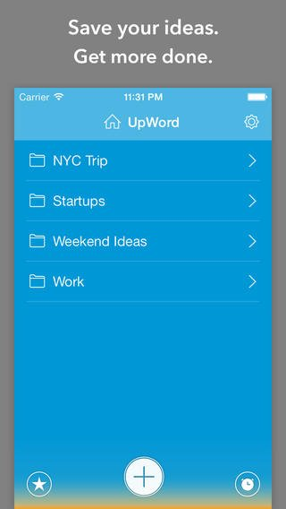 Take Your iOS 7 Note-Taking And List-Making Experience Upward With UpWord Notes