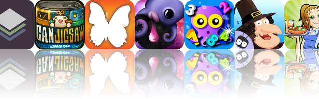 Today's Apps Gone Free: Stackables, Jigsaw Can, Audubon Butterflies And More