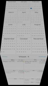 Unique Calendar App CalCube Updated With An Even Flatter Look