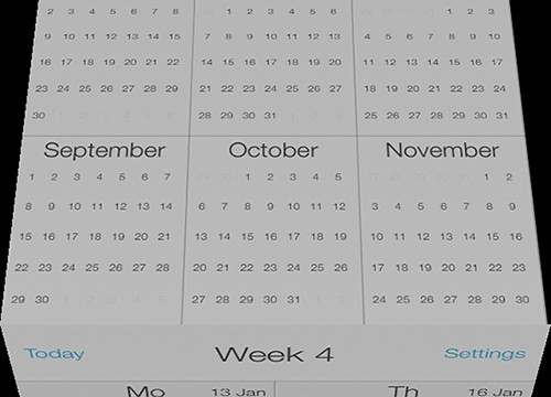 Unique Calendar App CalCube Updated With An Even Flatter Look