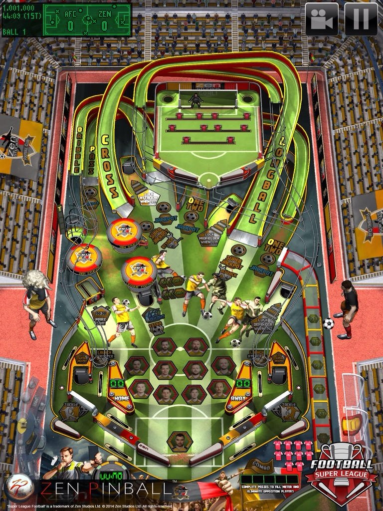 Kick Into Action With Super League Football, Available Now In Zen Pinball For iOS