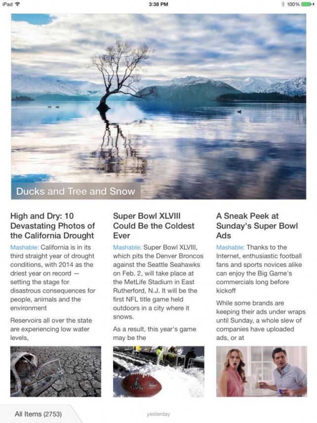 Magazine-Like Feed Reader App Ziner Updated To Version 2.1 With New Features