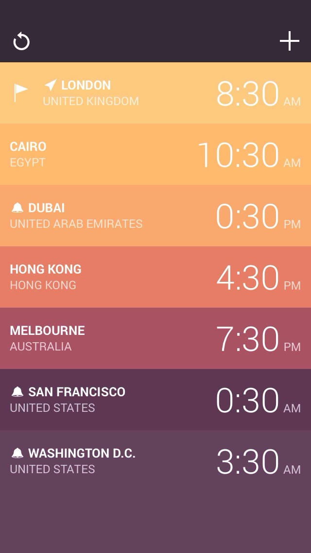 Amount Developer Releases Gorgeous World Clock App Globo For iPhone