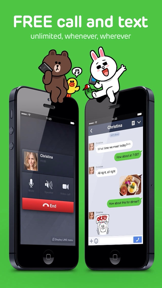 Line Messaging App Updated For iOS 7 With Flat Design Plus New Features