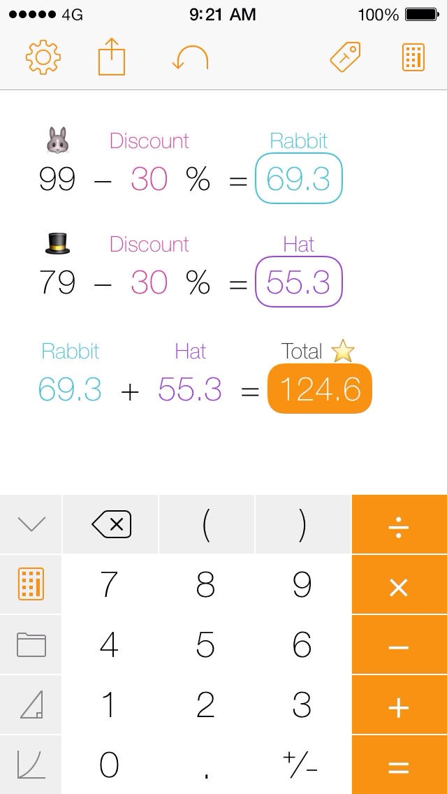 Impressive iOS 7-Optimized Calculator App Tydlig Updated With New Features