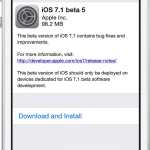 Apple Releases iOS 7.1 Beta 5 To Registered Developers