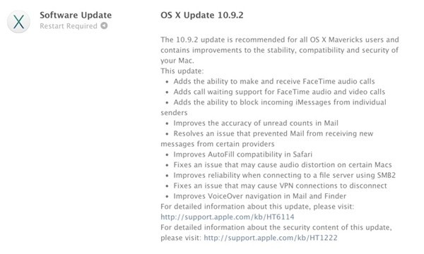 Apple Officially Releases OS X 10.9.2, Fixes SSL Exploit