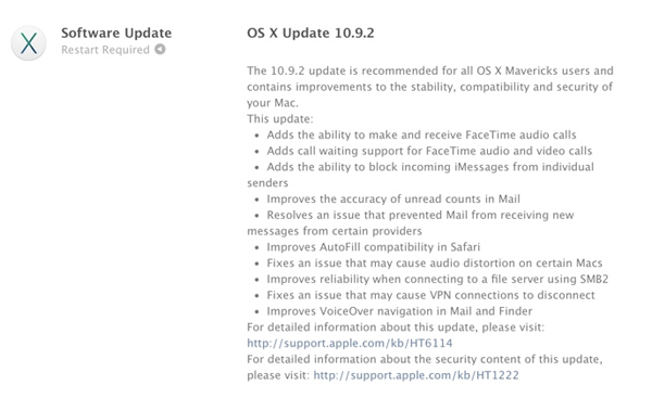Apple Officially Releases OS X 10.9.2, Fixes SSL Exploit