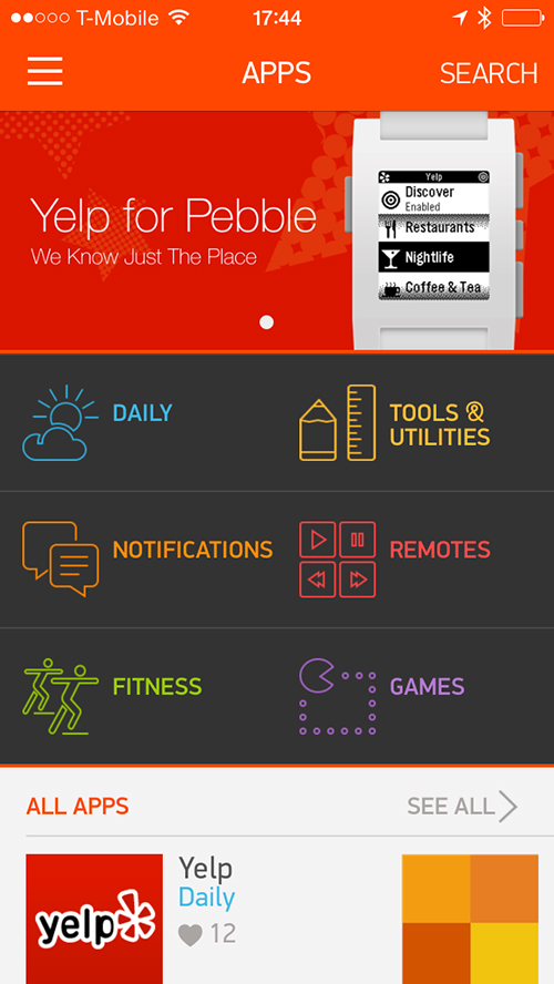 Major Pebble Update Arrives With An Appstore For The Smart Watch