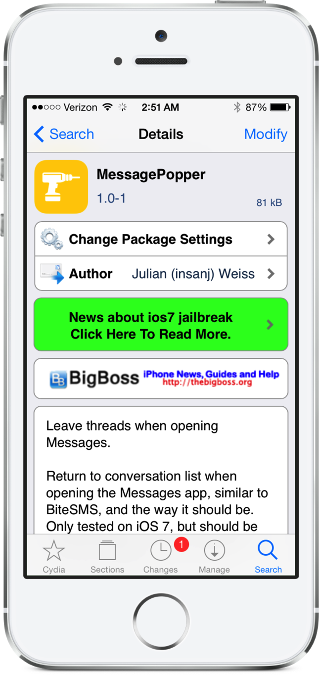 Cydia Tweak: MessagePopper Fixes An Annoying Issue With The Messages App