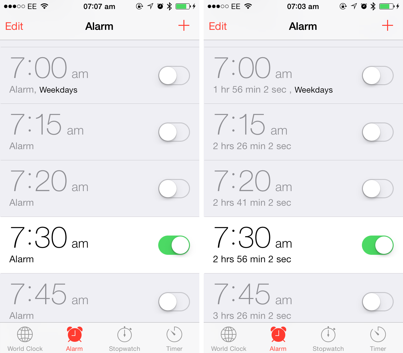 Cydia Tweak: TimeForAlarm 2 Adds A Useful Countdown For Clock App Alarms