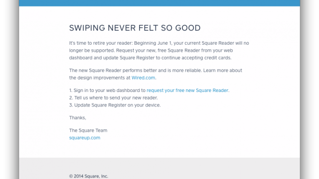 Square Prompts Customers To Upgrade To Its New, Thinner Card Reader For Free