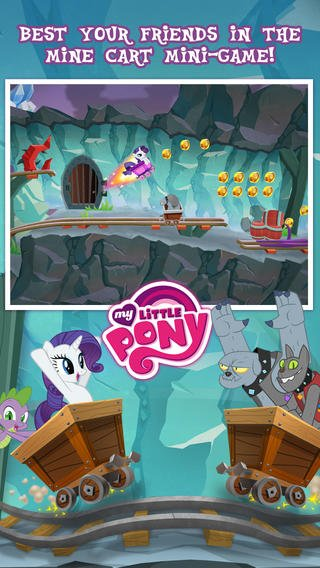 Gameloft Updates My Little Pony - Friendship Is Magic With New Mine Cart Mini-Game