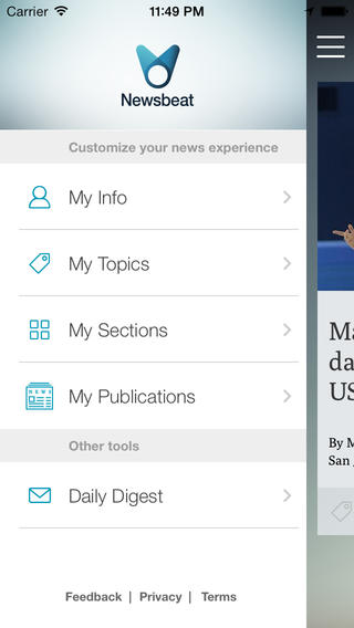 Former Yahoo Exec's Tribune Digital Ventures Launches Newsbeat For iOS