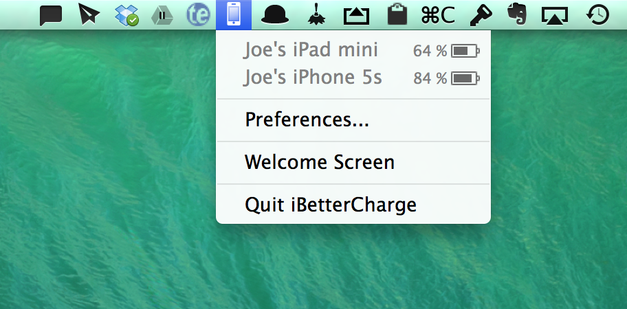 This Clever Mac Utility Brings iOS Battery Notifications To The OS X Status Bar