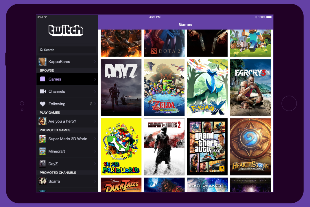 TwitchTV 3.0 Features iOS 7 Redesign, Offline Channel Search And Improved Chat