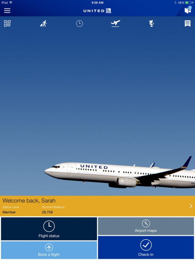 United Airlines Readying New iOS In-Flight Entertainment Service For