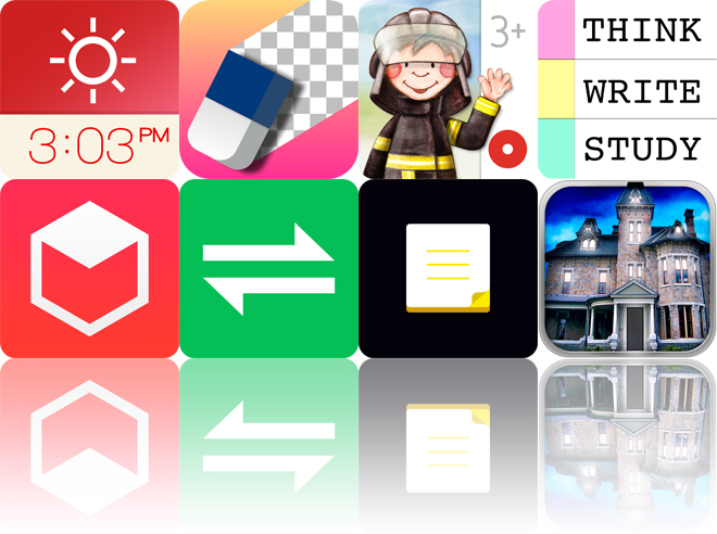 Today's Apps Gone Free: Red Clock, Background Eraser, Tiny Firefighters And More