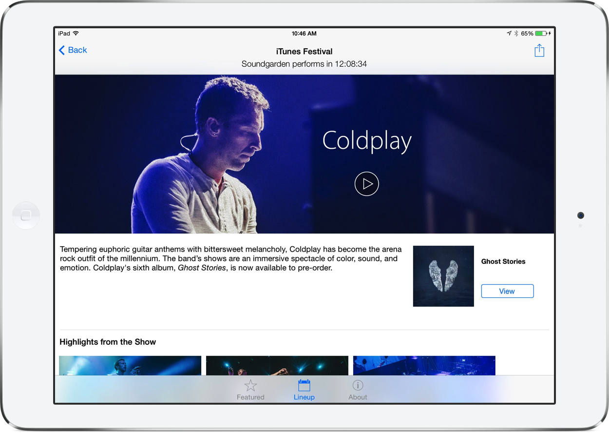 You Can Finally Replay Coldplay's Performance From The iTunes Festival At SXSW