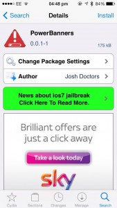 Cydia Tweak: Bring Less Invasive Power Alerts To iOS 7 Using PowerBanners