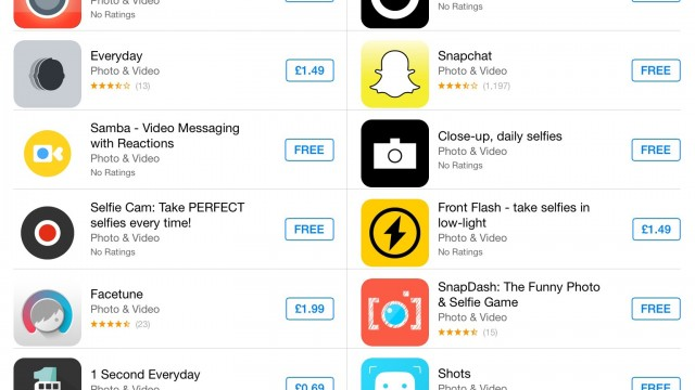 Apple Adds A Selfie-Sharing Section To The App Store