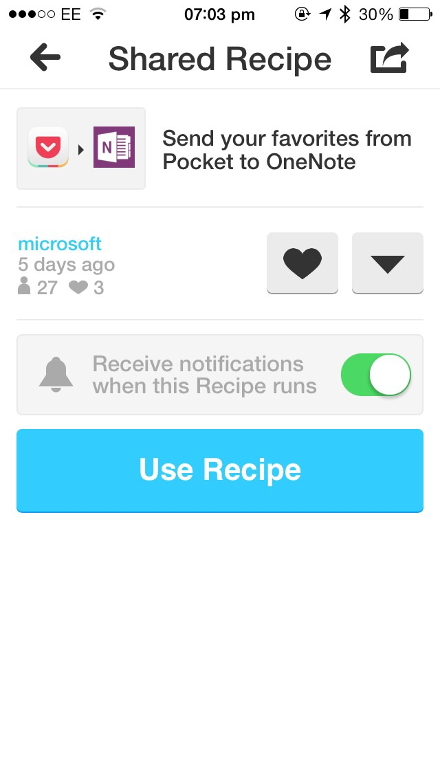 Following Its Launch On The Mac App Store, OneNote Gets Support For IFTTT