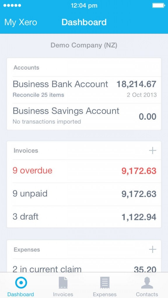 Xero For iOS Updated With Files Support For Financial Images And Documents