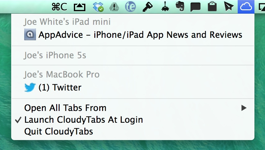 This Useful Mac App Can Bring iCloud Tabs To The OS X Menu Bar