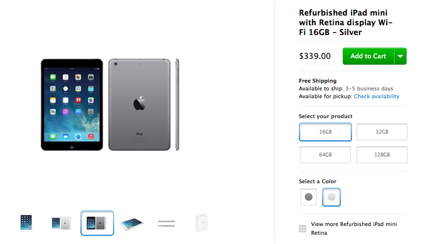 Apple Is Now Selling Refurbished iPad mini With Retina Display Tablets