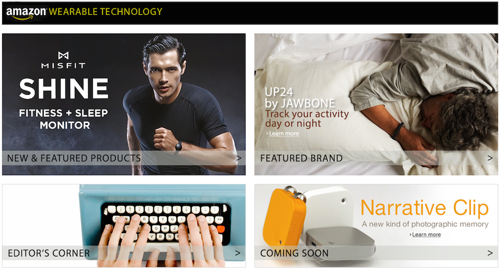 Amazon's Wearable Technology Store Features Everything You Need To Stay Fit