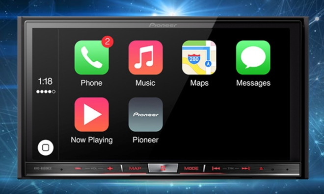 Pioneer Announces Apple CarPlay Compatibility For In-Dash Multimedia Receivers