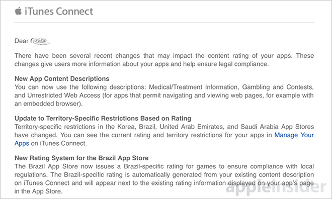 Apple Adds New Content Descriptions And More To iTunes Connect