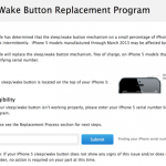 Apple Launches A Replacement Program For The iPhone 5's Sleep Button