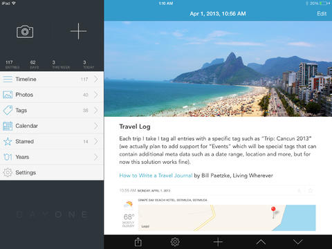 Day One For iOS Gets An Update Bringing 'Publish' To The iPad