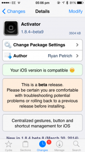 Cydia Tweak: Activator Beta Adds Custom Battery Level Triggers