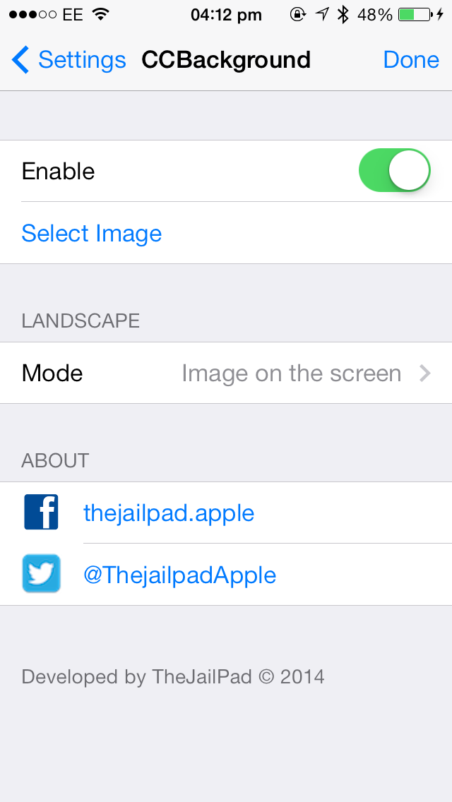 Cydia Tweak: CCBackground Can Add A Wallpaper To iOS 7's Control Center