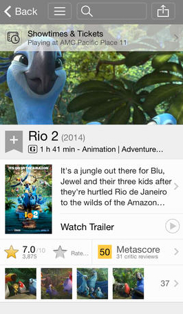 The IMDb App Now Shows Titles Available Through Amazon Prime Instant Video