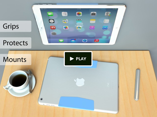 MagBak Is A Simple And Minimalist Mount For The iPad Air And iPad mini