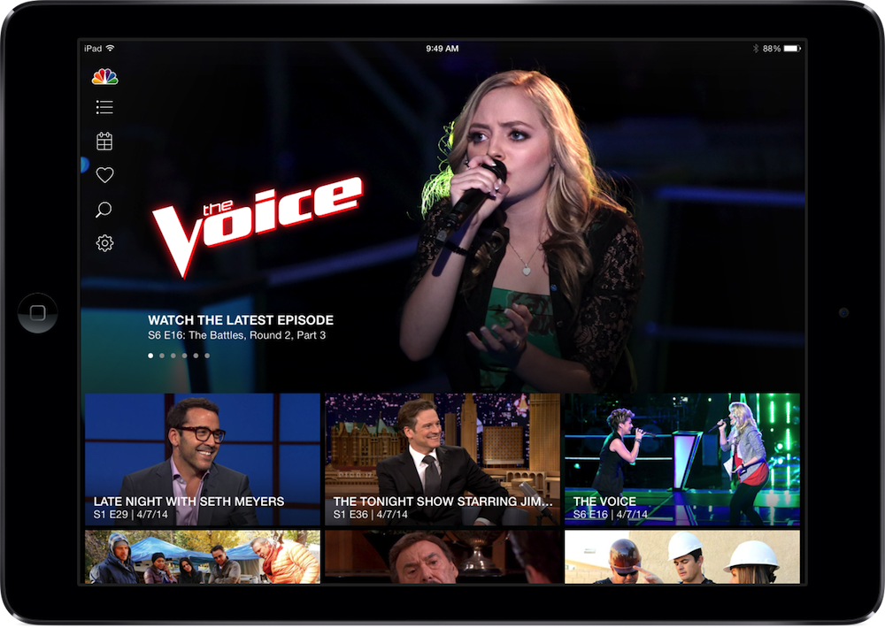 The NBC App For iOS Now Offers AirPlay Streaming To Apple TV